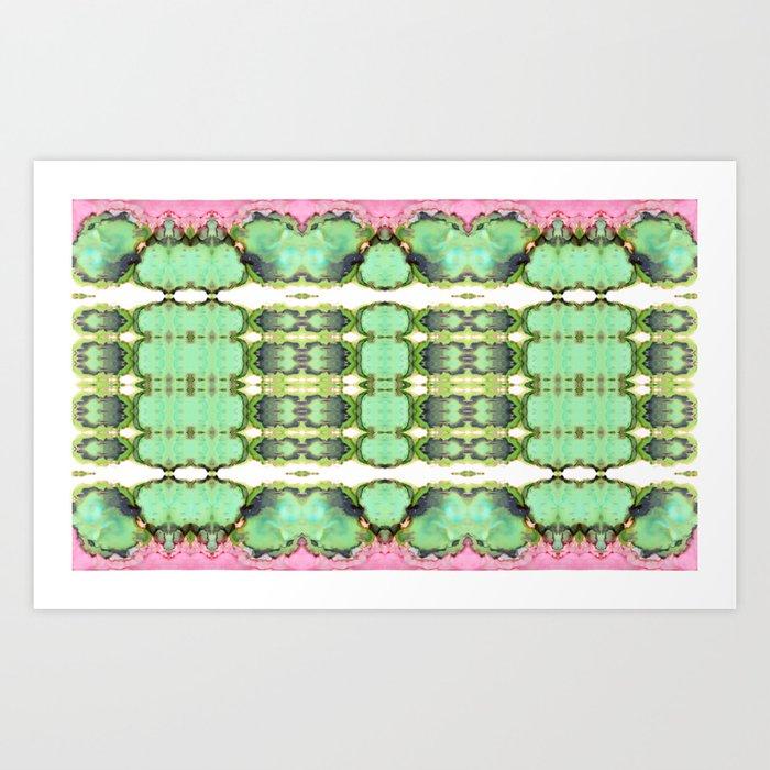 Cactus Ink Kaleidoscope Art Print
