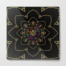 Mandala of Wishes Metal Print