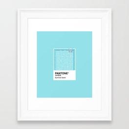 Pantone Series – Summer Swim Framed Art Print