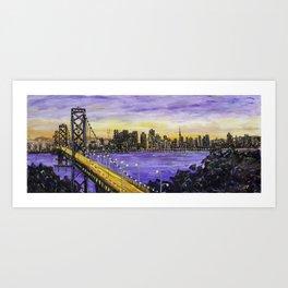 Indigo Night San Francisco Art Print