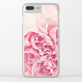 Pale Pink Carnations 4 Clear iPhone Case