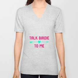 Talk Birdie To Me Golf Driving Range Unisex V-Neck