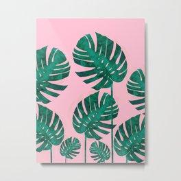 Watercolor palm leaves Metal Print