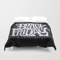 friday Duvet Covers featuring Black Friday by Chris Piascik
