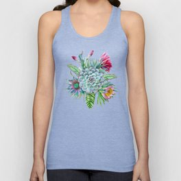 Exotic flower garden Unisex Tank Top