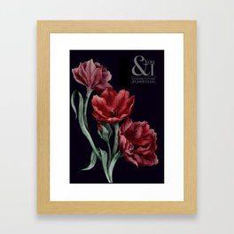 Noir Florals - You & I Fashion Styling Special Edition Framed Art Print