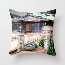 WOODEN HOUSE IN CAU DAT Throw Pillow