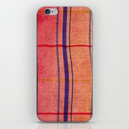 watercolor plaid iPhone Skin