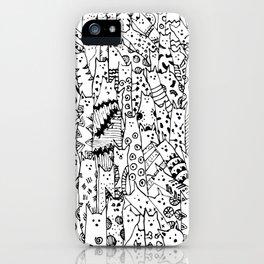 Cat Doodles iPhone Case