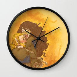 Harvest Gold Wall Clock