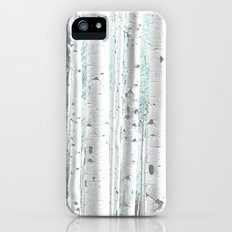 Pale Birch and Blue iPhone SE Slim Case