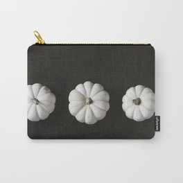 White Pumpkin Trio Carry-All Pouch