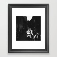Along the path Framed Art Print