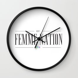 Femme Nation Wall Clock