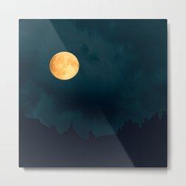 Full Moon Shines Overnight #decor #society6 #buyart #homedecor Metal Print