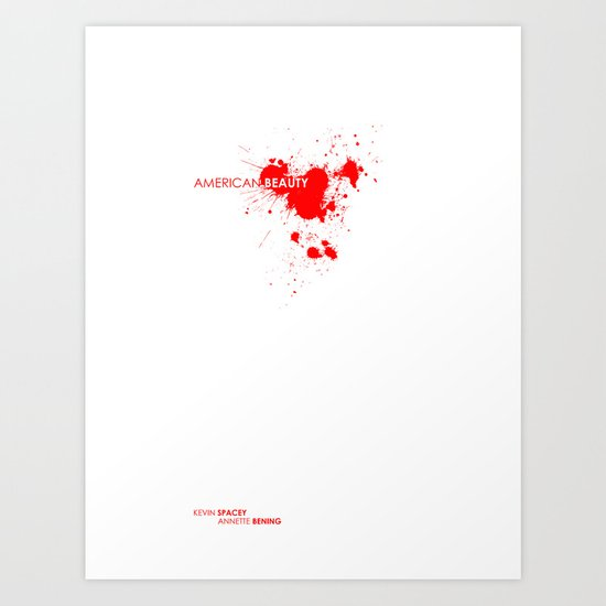 American Beauty movie poster. Art Print