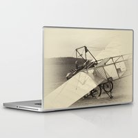 airplane Laptop & iPad Skins featuring Airplane by DistinctyDesign