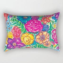 rainbow flower pa Rectangular Pillow