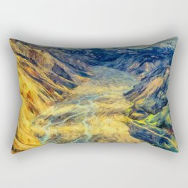 The colorful Highlands of Iceland Rectangular Pillow