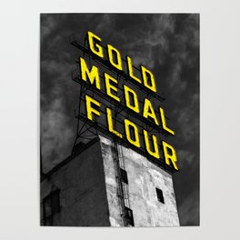 Gold Medal Sign in Minneapolis Poster