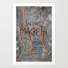 """""""Macbeth"""" poster Art Print"""