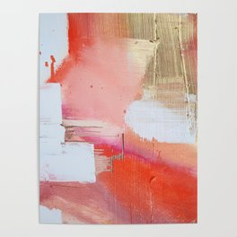 Moving Mountains: a minimal, abstract piece in reds and gold by Alyssa Hamilton Art Poster