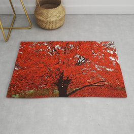 TREES RED Rug