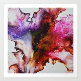 Fluid Acrylic Flower Art Print