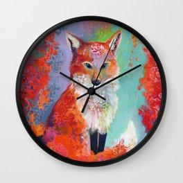 Fox Charming Wall Clock