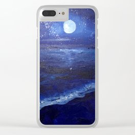 Moonlight by the Shore Clear iPhone Case