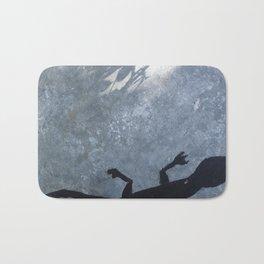 Lizard on metal Bath Mat