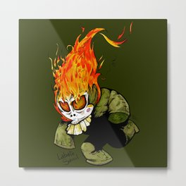 Little keeper of the fire Metal Print
