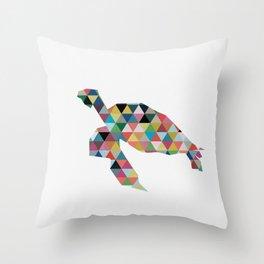 Colorful Geometric Turtle Throw Pillow