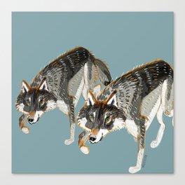 Totem Dark European Wolf Canvas Print