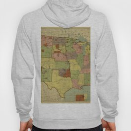Map of Indian Reservations 1902 Hoody