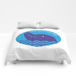 Keep the Ocean Blue Comforters