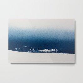 NAVY GRADIENT WATERCOLOUR CONTRAST Metal Print