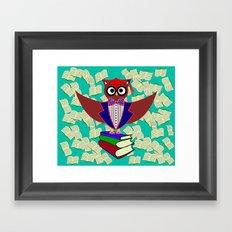 Professor Dr.Owl Framed Art Print