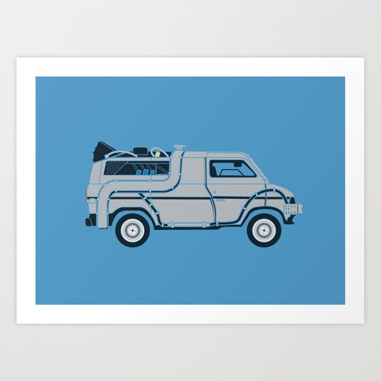 Back to The Future DeloreVan Art Print