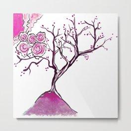 Magenta tree Metal Print
