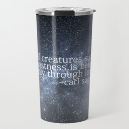Carl Sagan and the Milky Way Travel Mug