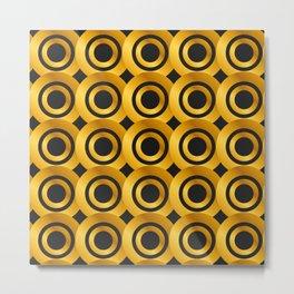 Art Deco-Like Pattern: 24-Karat Gold Casino Winning Chips Metal Print