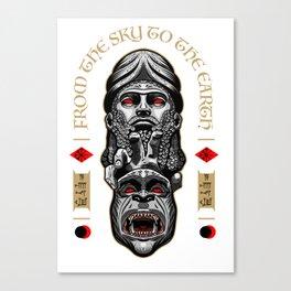 Anunnaki - from the sky to the earth Canvas Print