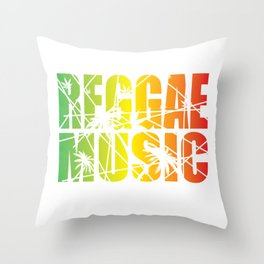 Reggae Music Throw Pillow