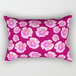 Blushing Roses Rectangular Pillow