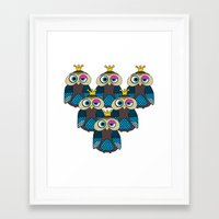 minions Framed Art Prints featuring Owl Minions  by Gabriel J Galvan