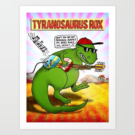 Jurassic Rock Art Print