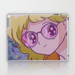 90s Anime Girl (Glasses) Laptop & iPad Skin