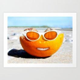 Beached Orange Art Print
