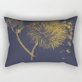 gold botanical illustration Rectangular Pillow